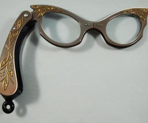 etsy, vintage accessories, and rhinestone glasses image