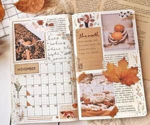 autumn and bullet journal image