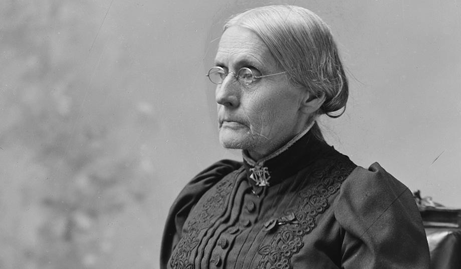 black and white, feminist, and susan b. anthony image