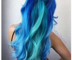 blue, hair, and colorful image