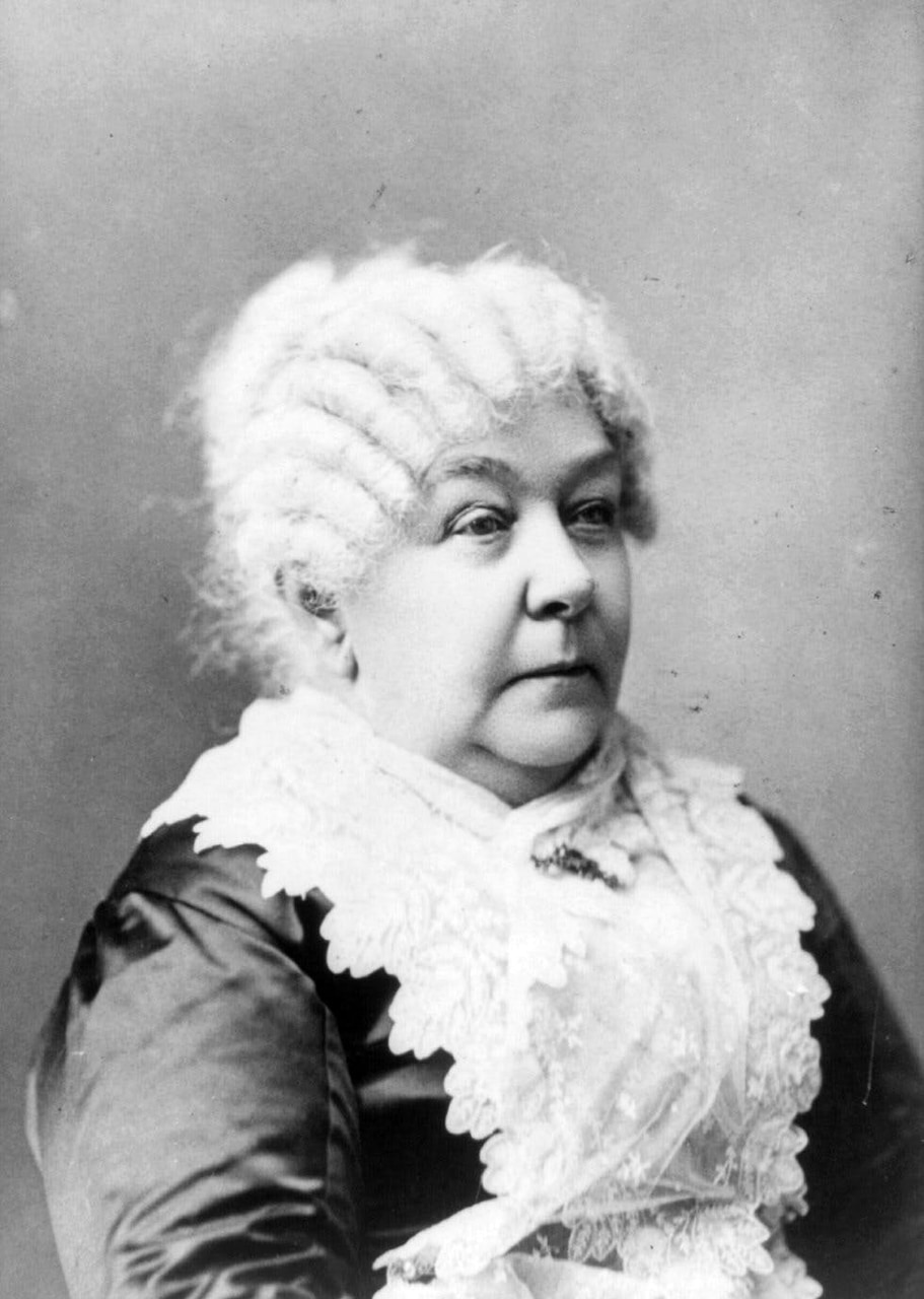 feminist, elizabeth cady stanton, and us suffragette image