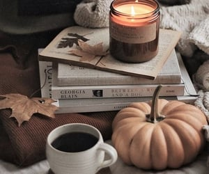 autumn, candle, and coffee image
