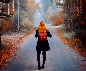 aesthetic, autumn, and redhair image