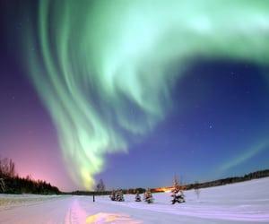 alaska, beautiful, and night image