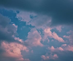 Dream, dreamer, and pink sky image