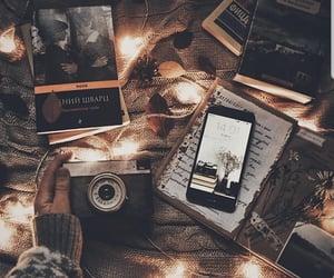 autumn, books, and camera image