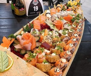 delicious, salmon, and dinner image
