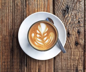 cafe, cappuccino, and rustic image