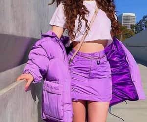 fashion, purple, and skirt image