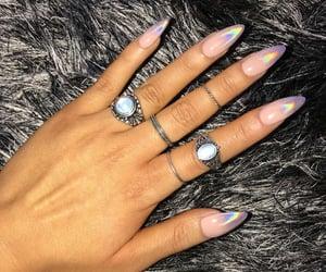 fake nails, nail goals, and motif nails image