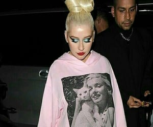 christina aguilera, hoodie, and event image