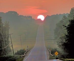 aesthetic, road, and sunrise image