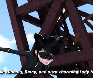 marinette cheng, Chat Noir, and kwami swap image