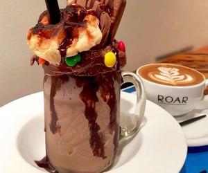 cafe, chocolate, and coffee image