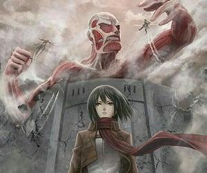 anime, shingeki no kyojin, and attack image