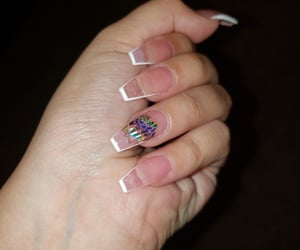 art, nails, and rose image
