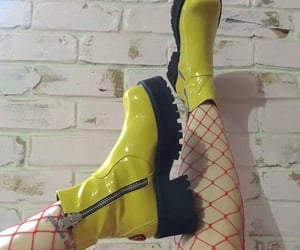 boots, fashion, and yellow image