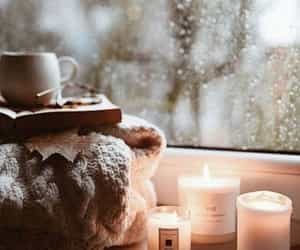 candle, cozy, and autumn image