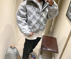 fashion, grey, and Louis Vuitton image