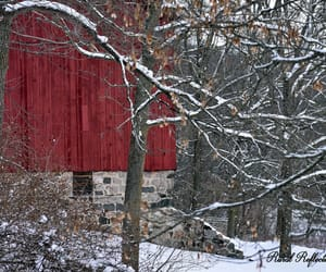 barn, season, and wreath image