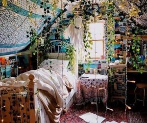 plants, bedroom, and boho image