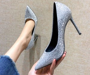 pumps, stiletto heels, and sequins image