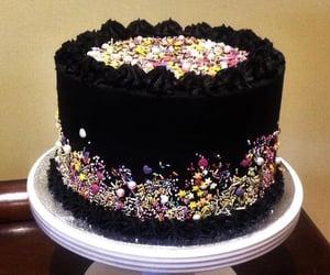 birthday, black, and cake image
