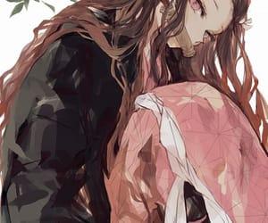 cute anime girl, demon slayer, and kimetsu no yaiba image