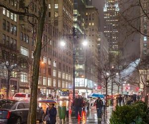 aesthetic, rain, and city image