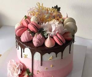 birthday, cake, and macaroon image