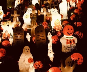 Halloween, fall, and ghost image