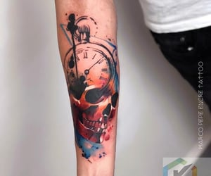 arm, skull, and awesome image