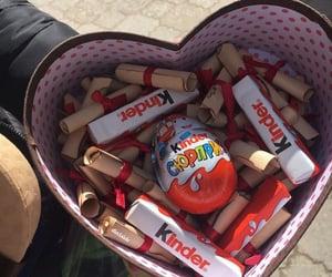 chocolate, heart, and kinder image