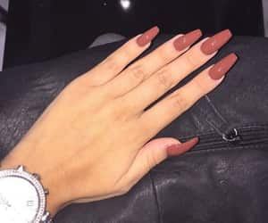 nails, beauty, and watch image