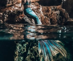 aesthetic, blue, and cave image