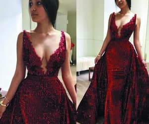 evening gown, formal dress, and sparkle evening dress image
