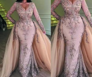 evening gowns, beaded evening dress, and champagne evening dress image