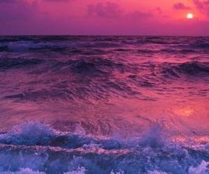 sunset, pink, and purple image