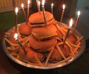 birthday, food, and hamburger image