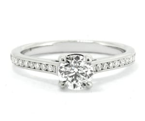 diamond ring, diamonds, and engagement ring image
