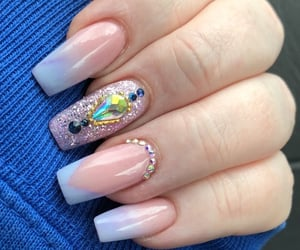 pastel, coffin nails, and ombre image