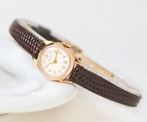 etsy, wedding gift watch, and case gold 583 watch image