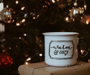 cozy, coffee, and christmas day image