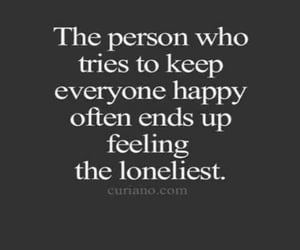 happy, lonely, and quotes image