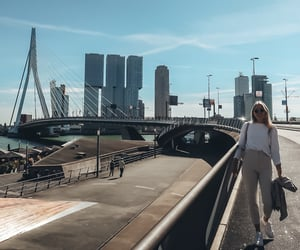blonde, summer, and city image