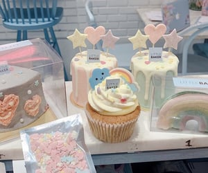 bakery, cream, and cakes image