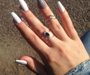 art, nails, and rings image