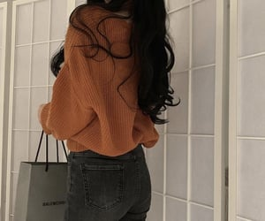 asian fashion, asian girl, and back image