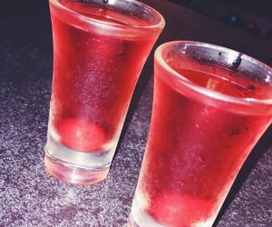 alcohol, cherry, and drink image