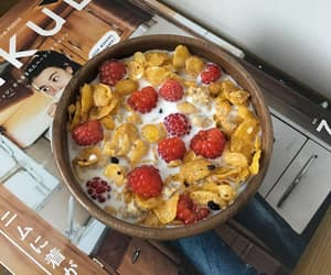 breakfast, food, and flakes image